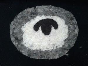 wet felted sheep rug